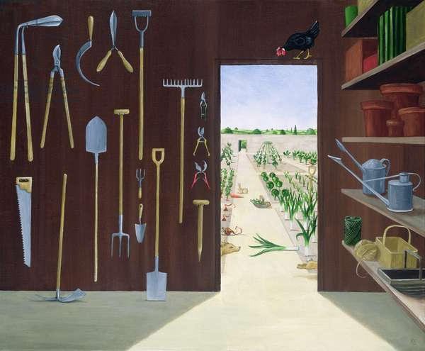 The Garden Shed (oil on linen)