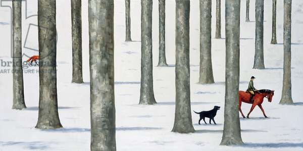 Winter Woodland (oil on linen)