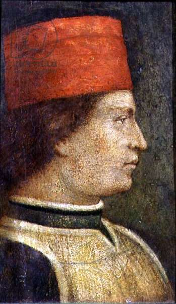 Head of a man in a red hat (tempera on panel)