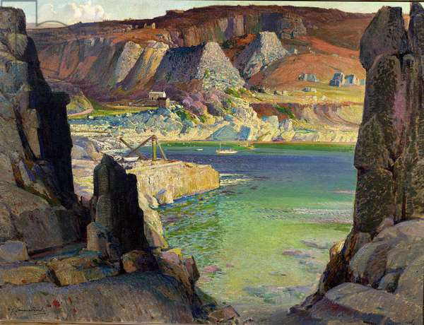 Morning fills the bowl, Lamorna, 1926