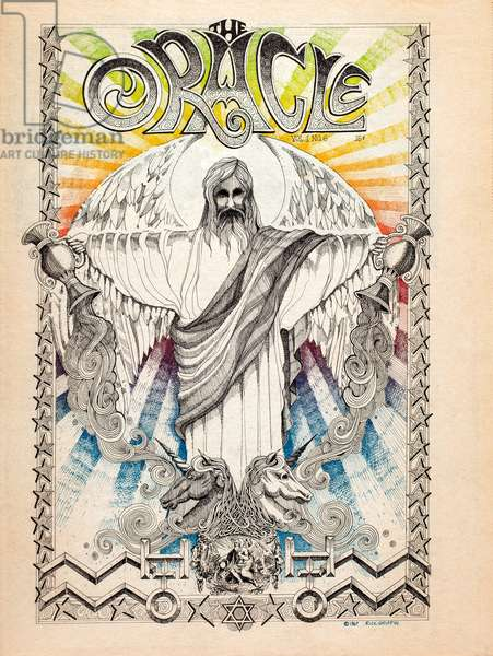 Oracle, No. 6, San Francisco hippie underground newspaper front page, 1967 (colour newspaper)