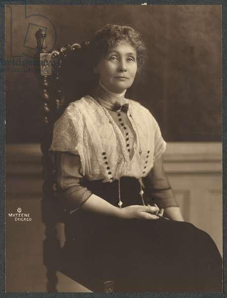 Emmeline Pankhurst, 1913 (b/w photo)