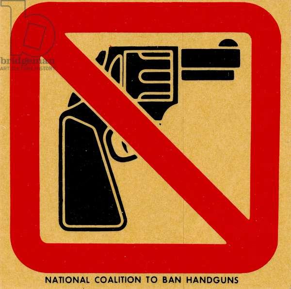 National Coalition to Ban Handguns decal, c.1980 (litho)