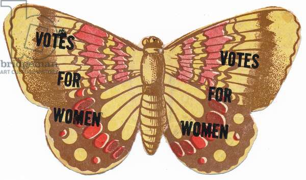 Votes for Women butterfly, n.d,  (print)