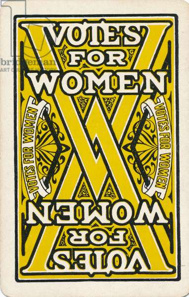 Votes for Women playing card, n.d.,  (print)