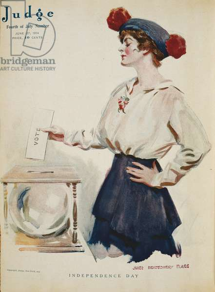 Independence Day, Judge magazine, cover illustration by James Montgomery Flagg, June 27, 1914 (colour litho)