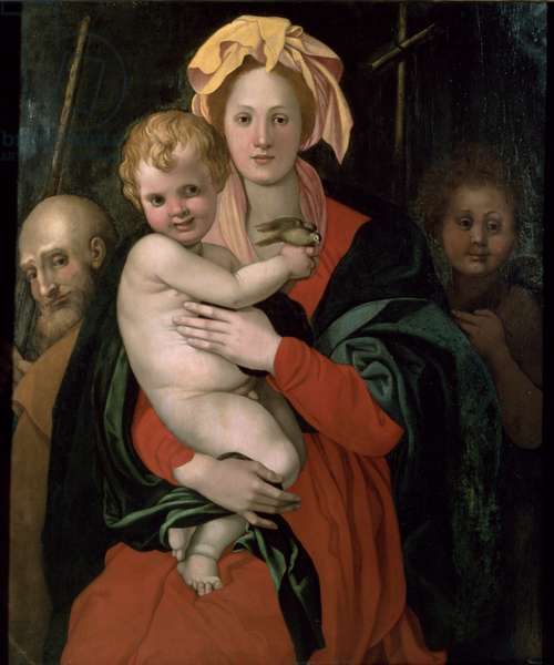 The Holy Family with St. John, after 1522 (oil on panel)