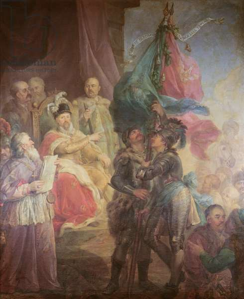 The Union of Lithuania with Poland in 1569, 1783-85 (oil on canvas)