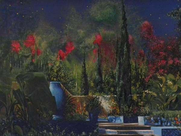 Sans Paroles (Majorelle Garden), 1994 (oil on canvas)