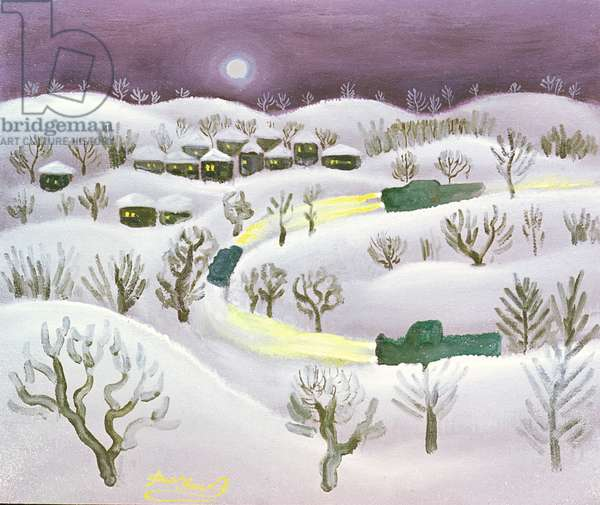 Winter Night, 1971 (oil on canvas)