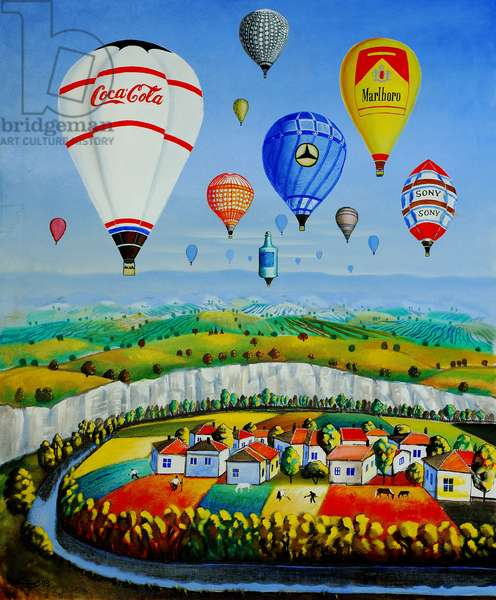 Balloons, 2004 (oil on canvas)