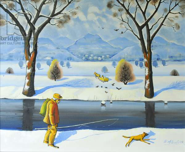 Winters Walk, 2005 (oil on canvas)