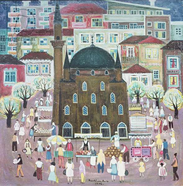 Mosque in Razgrad, 1972 (oil on canvas)