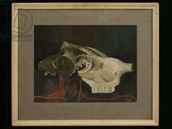 Dead Gossip, 1931 (gouache on card)