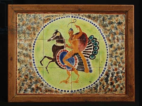 Peacock Table (ceramic tiles)