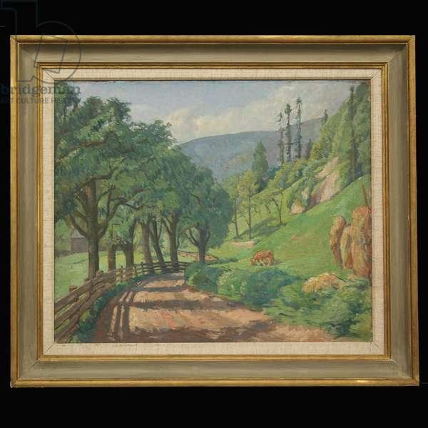Tyrolean Landscape, 1929 (oil on canvas)