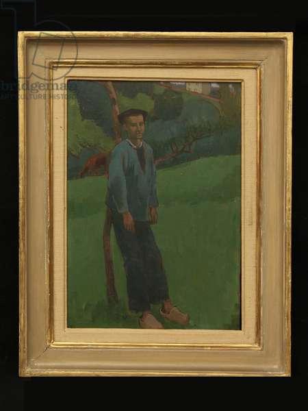 Breton Boy, c.1920 (oil on board)