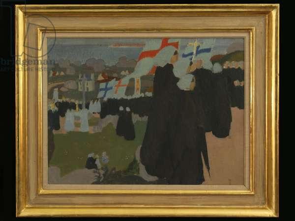 Pardon de la Clarté, c.1905 (oil on board)