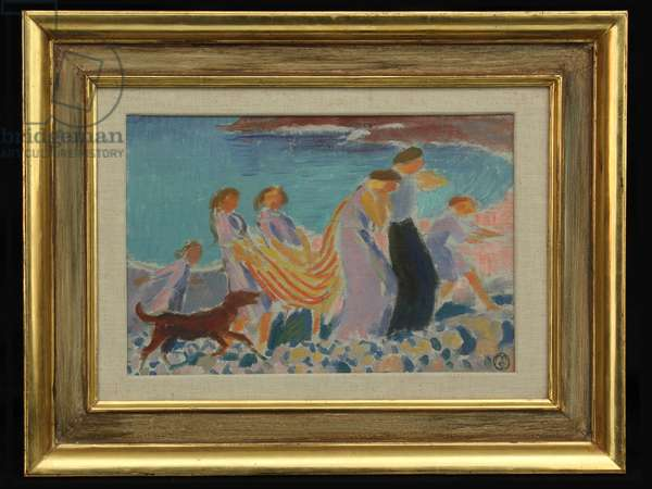 Revelry on the Beach, c.1905 (oil on board)