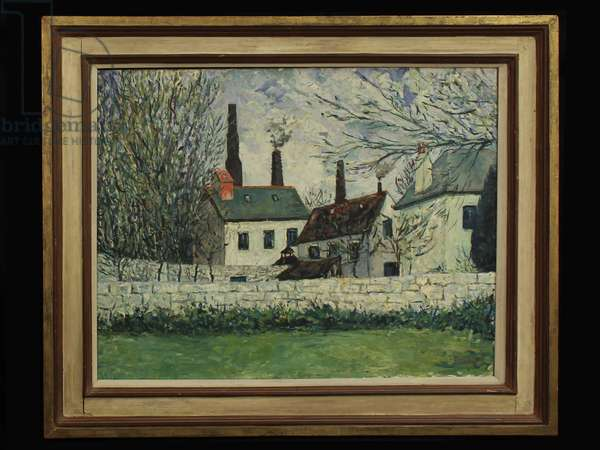 Factories, c.1960 (oil on canvas)