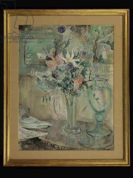 Still Life: Lilies (gouache)
