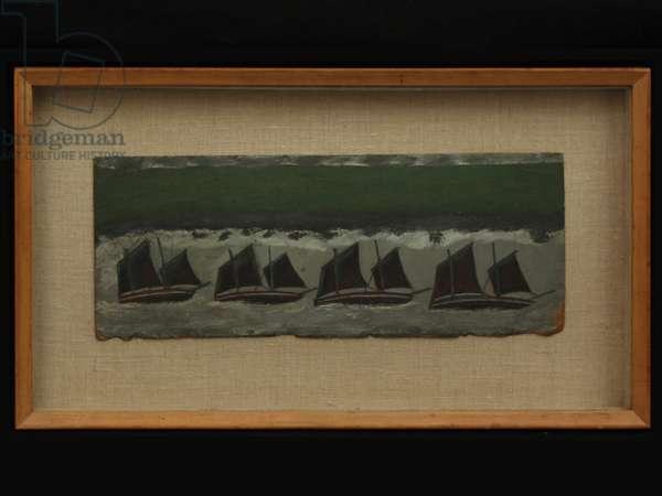 Four Schooners, c.1930 (oil on card)