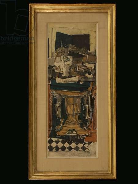 Chalcographie du Louvre, after Georges Braque (1882-1963), c.1910 (colour litho)