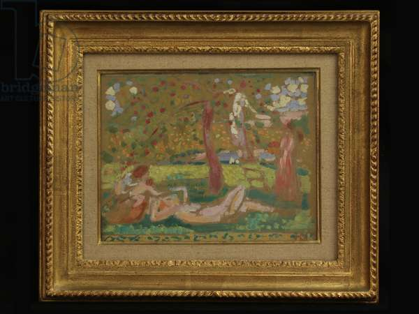 Autumn Bucolics or Under the Apple Tree (oil on board)