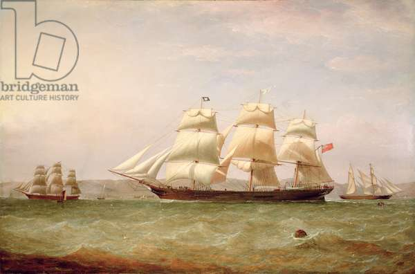 The Medium Clipper, 'John Lidget', off Greenock, 1862 (oil on canvas)