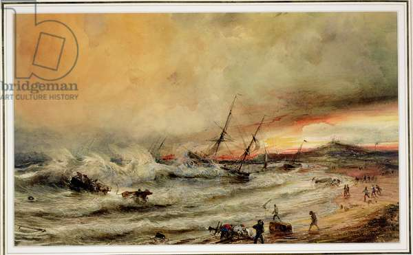 The Shipwreck, 1832 (w/c on paper)