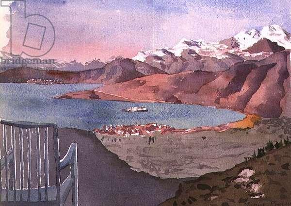 Delphi: Morning, 1976 (w/c)