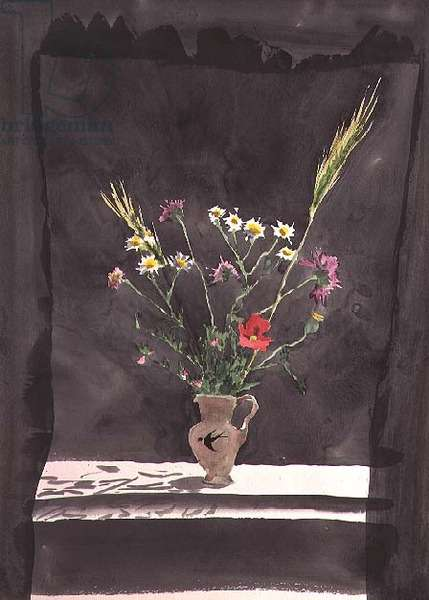 Flowers in a Swallow Jug (w/c)