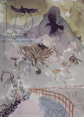 Owakudani, Fuji, 1991 (w/c)