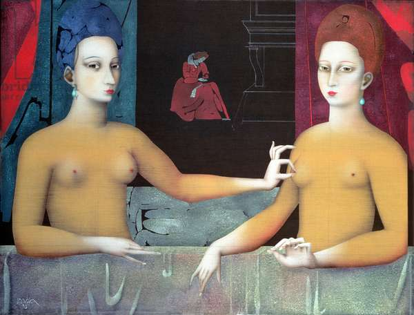 Gabrielle d'Estrees and her Sister the Duchess of Villars (variation on 16th c. French original) (see 26226)