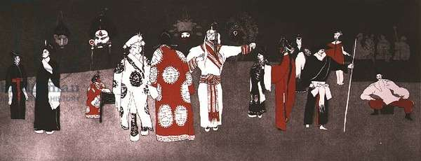 Peking Opera (etching and aquatint)