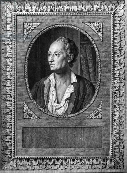 Portrait of Denis Diderot - engraving of the 19th century