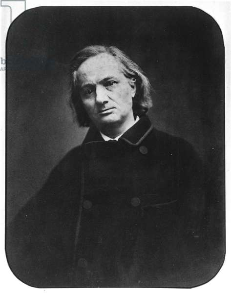 Charles Baudelaire (1821-1867), French poet, 1865, by Carjat