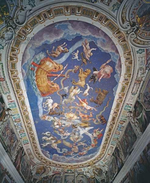 Astrological ceiling, in the Sala del Mappamondo (fresco)