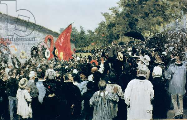 Meeting at the Mur des Federes - Pere Lachaise, 1883