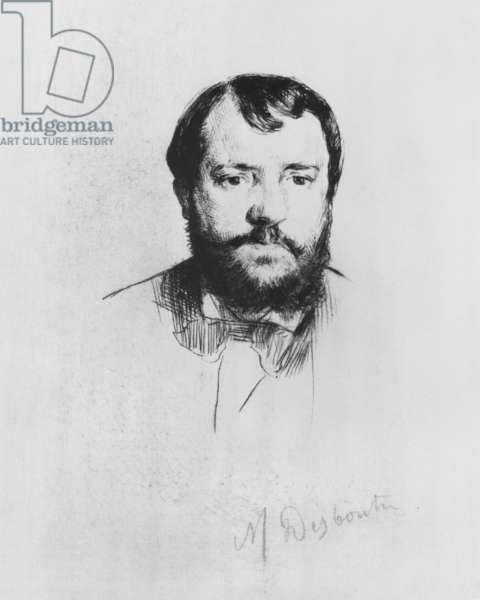 Ernest Hoschede, 1875 (etching with drypoint)