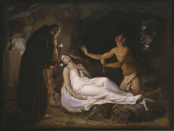 Last moments of Atala, 1871 (oil on canvas)