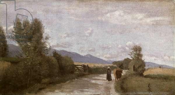 Dardagny, Morning, c.1853 (oil on canvas)