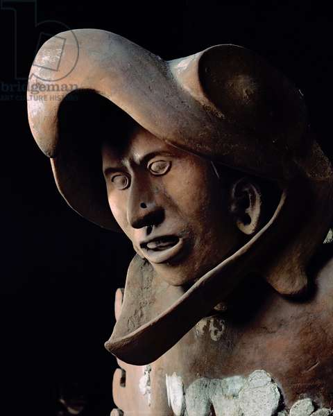Eagle warrior from the House of the Eagles, dated to c. 1469 (terracotta)
