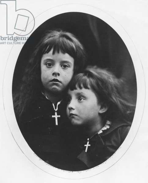 Rachel and Laura (albumen print)