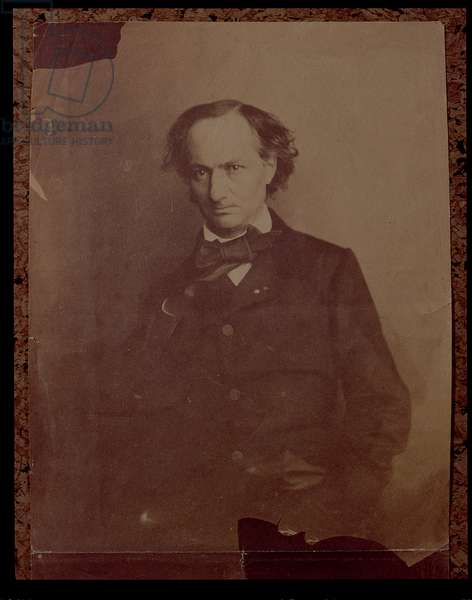 Charles Baudelaire (1820-1867), French poet, portrait photograph
