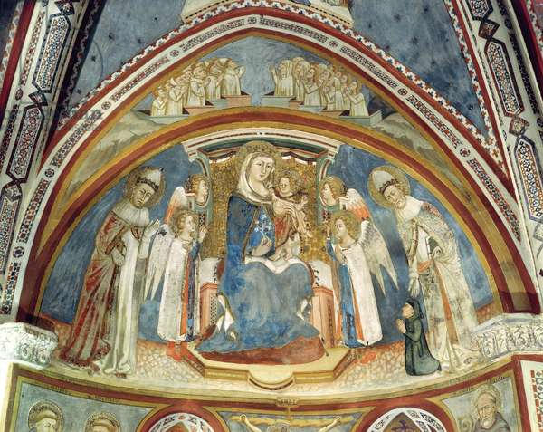 Virgin and Child surrounded by Saints on the apse of the Chapel of Our Lady (fresco)