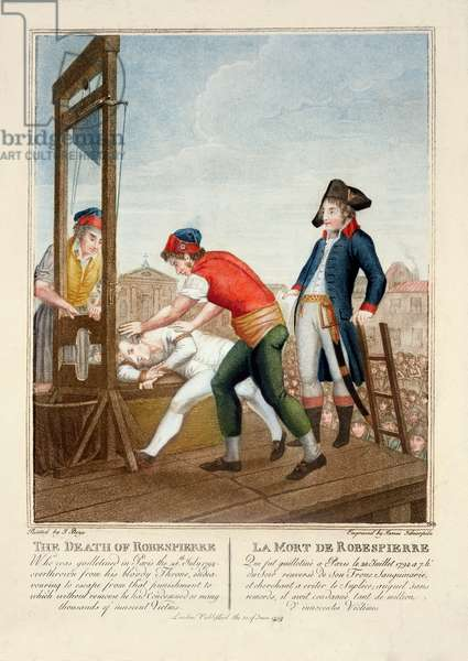 The Death of Robespierre (1758-94) 28th July 1794 engraved by James Idnarpila, published 1799 (engraving)