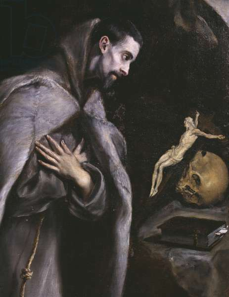 St. Francis meditating, c.1586-92 (oil on canvas)