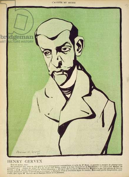 Henry Gervex, from 'La Foire aux Croûtes' series in 'L'Assiette au Buerre', 1902 (colour litho)