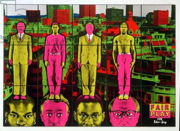 Fair Play, 1991 (acrylic on canvas)